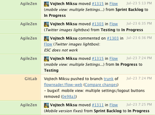 hipchat notifications